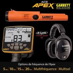 Garrett ACE APEX casque sans fil MS-3 + Pro ponter AT