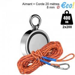 Pack aimant 400kg + corde 20m