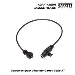Adaptateur casque pour détecteurs Garrett AT