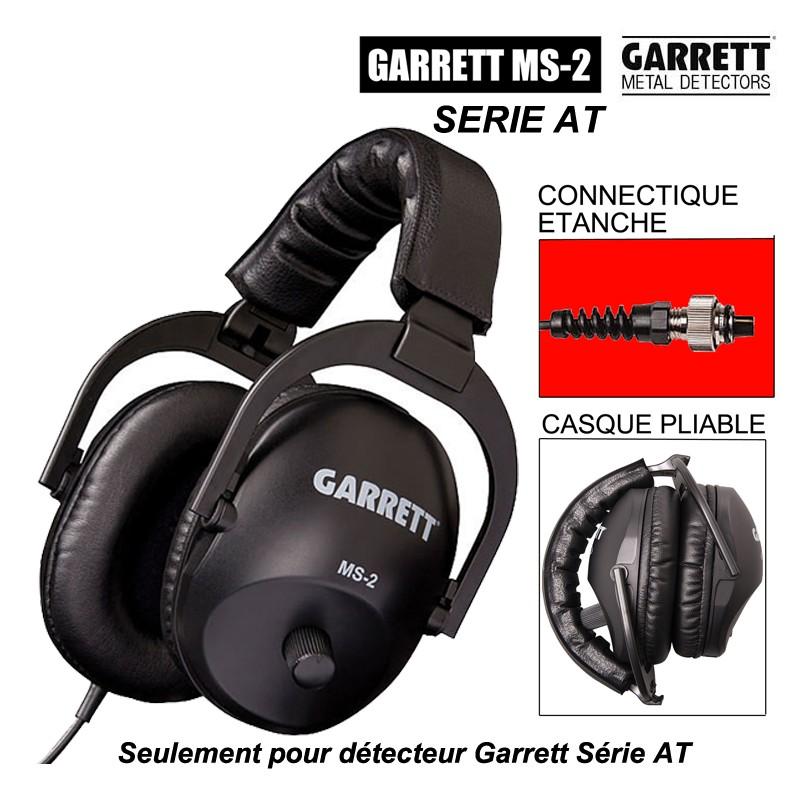 Casque détection Garrett MS-2 AT