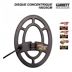 Disque 18x25cm pour détecteur Garrett ACE